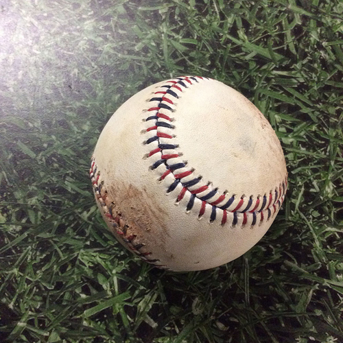 Photo of Game-Used Baseball BAL@MIL  07/04/17 - Tyler Wilson - Stephen Vogt: Strikeout (INCLUDES FREE SHIPPING & FREE 2020 GAME-READY 50TH ANNIVERSARY BASEBALL)