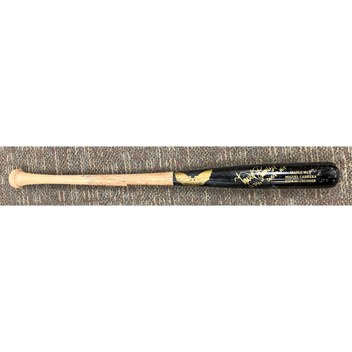 """Photo of Cabrera Exclusive! Miguel Cabrera Autographed Game-Used Bat (6/13/19) with Inscription """"2741st Career Hit"""" (MLB AUTHENTICATED)"""