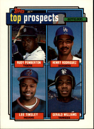Photo of 1992 Topps #656 Rudy Pemberton/Henry Rodriguez/Lee Tinsley RC/Gerald Williams