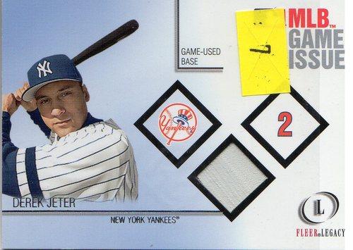 Photo of 2001 Fleer Legacy MLB Game Issue Base #7 Derek Jeter