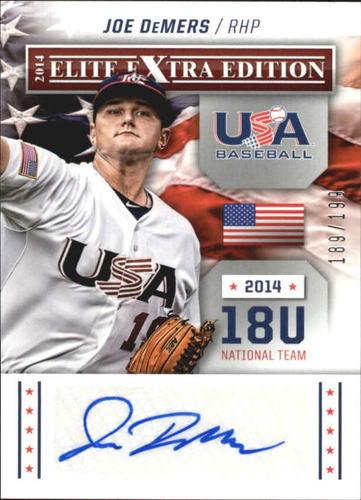 Photo of 2014 Elite Extra Edition USA Baseball 18U Signatures #11 Joe DeMers