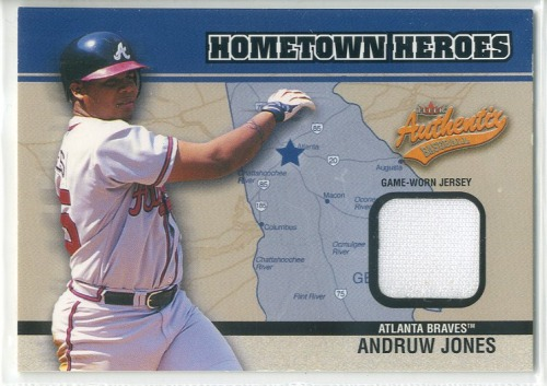 Photo of 2003 Fleer Authentix Hometown Heroes Memorabilia #AJ Andruw Jones Jsy SP/150
