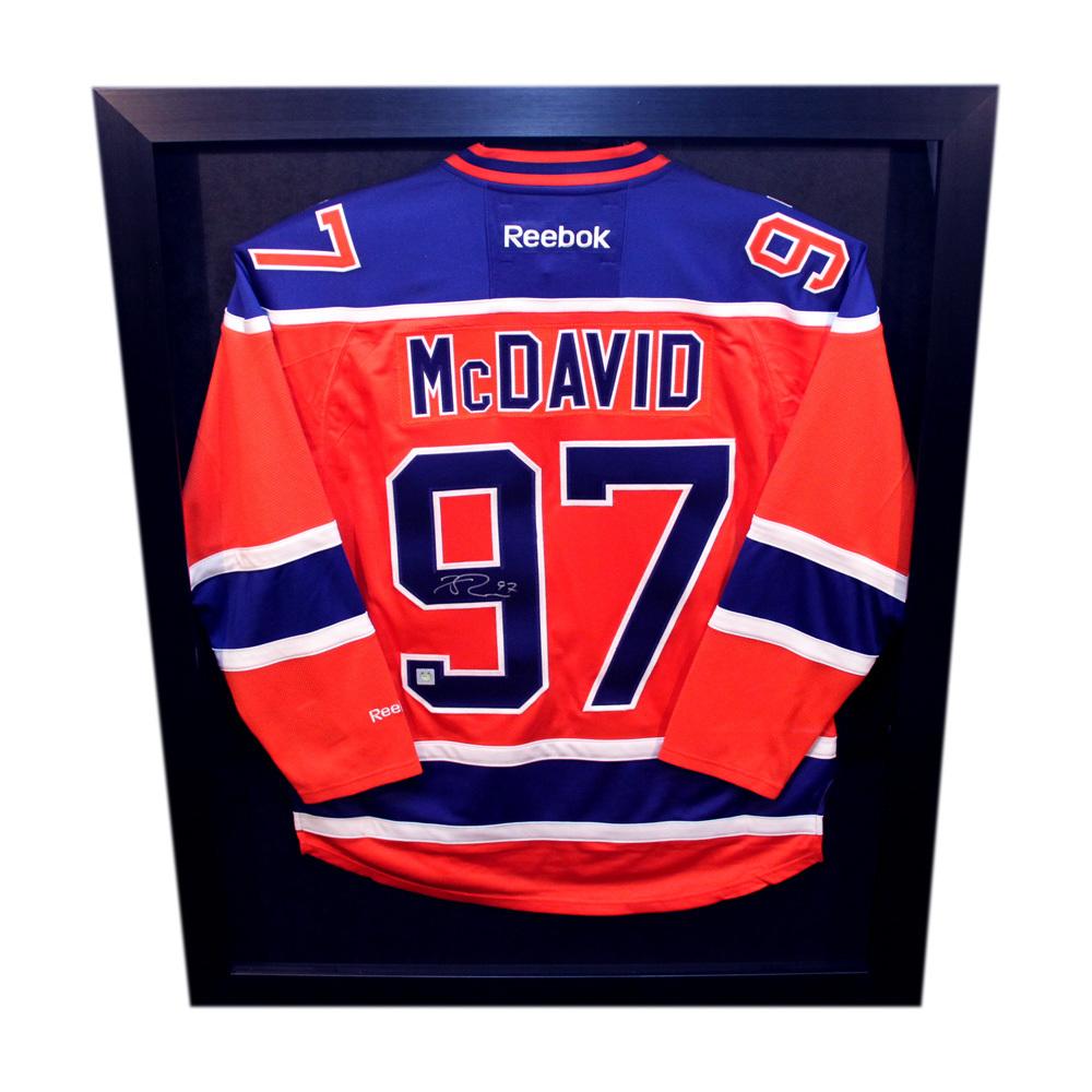 Connor McDavid #97 - Autographed & Framed Edmonton Oilers Orange ...