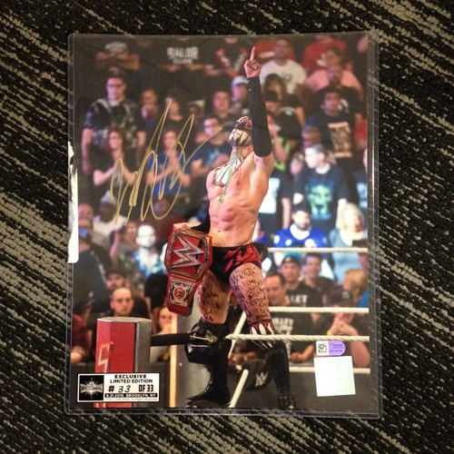 Finn Bálor SIGNED 8 x 10 Limited Edition WrestleMania 33 Photo (#33 of 33) (w/ Title)