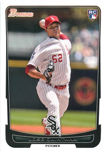 Photo of 2012 Bowman Draft #6 Jose Quintana Rookie Card Cubs post-season