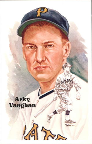 Photo of 1980-02 Perez-Steele Hall of Fame Postcards #192 Arky Vaughan -- HOF Class of 1985