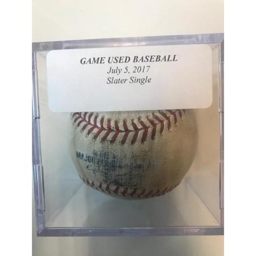 Game-Used Baseball: Austin Slater Single