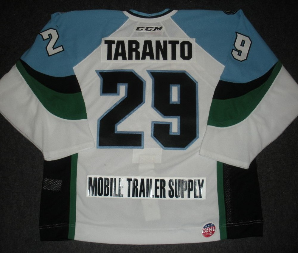 Andy Taranto - 2014 Kelly Cup Finals - Alaska Aces - White Game-Worn Jersey - Game 1