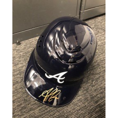 Photo of Ozzie Albies Autographed Helmet