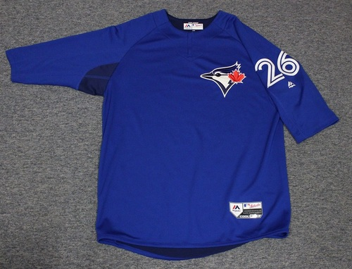 Photo of Authenticated Team Issued Batting Practice Jersey - #26 Yangervis Solarte. Size L.