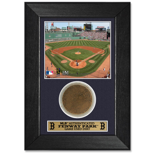 Photo of Boston Red Sox Game-Used Dirt Plaque
