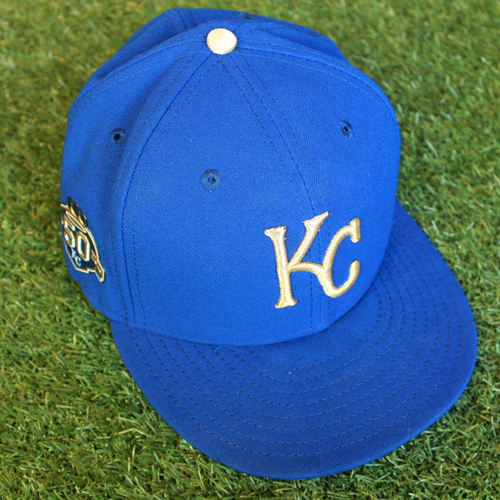 Photo of Game-Used 50 Seasons Cap: Kevin McCarthy (Size 7 1/2 - CLE @ KC - 9/28/18)