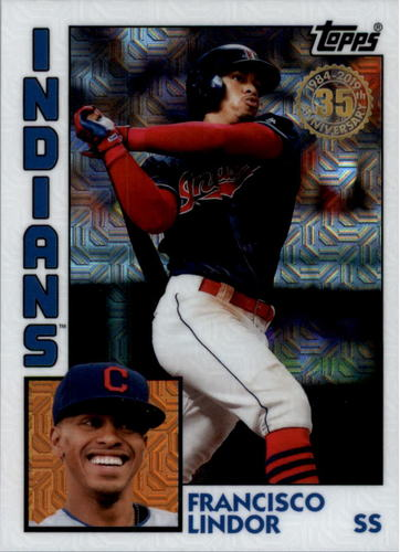 Photo of 2019 Topps '84 Topps Silver Pack Chrome #T849 Francisco Lindor