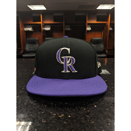Photo of Colorado Rockies Game-Used Opening Day Cap - Nolan Arenado - March 28, 2019