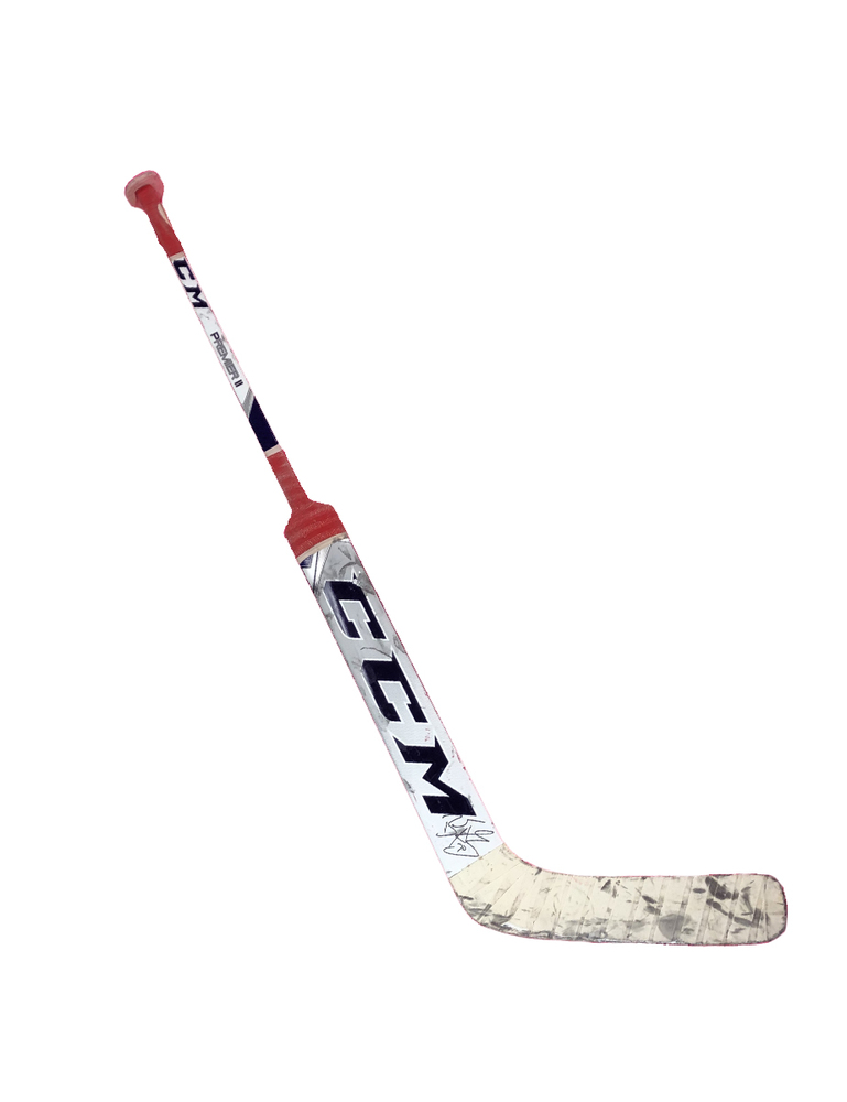 #70 Braden Holtby Game Used Stick - Autographed - Washington Capitals