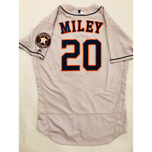 Photo of 2019 Mexico Series - Game-Used Jersey - Wade Miley, Houston Astros at Los Angeles Angels - 5/4/19