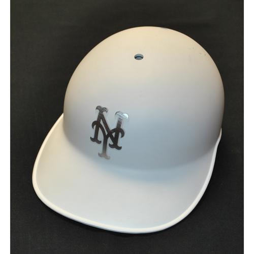 """Photo of Glenn """"SHERLS"""" Sherlock New York Mets Game-Used 2019 Players' Weekend Helmet"""