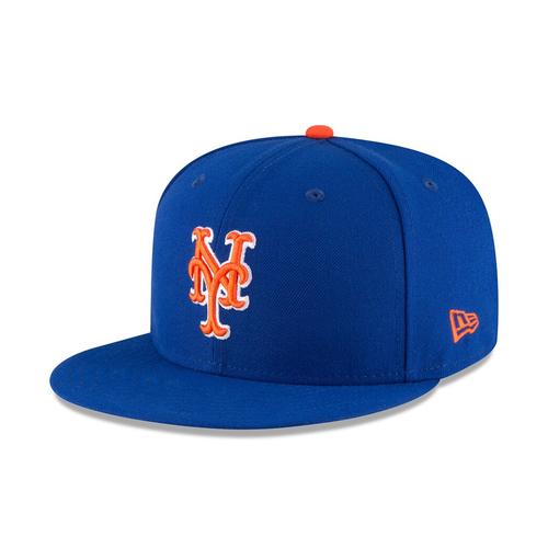 Chili Davis #54 - Alonso Sets Single-Season Rookie HR Record - Game-Used Blue Alt. Home Hat - Mets vs. Braves - 9/28/19