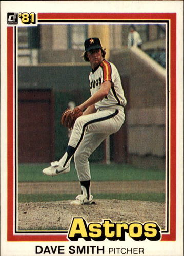 Photo of 1981 Donruss #23A Dave Smith P1/Line box around stats/is not complete