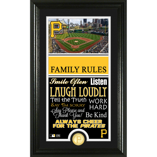 Photo of Pittsburgh Pirates Personalized Family Rules Photo Mint
