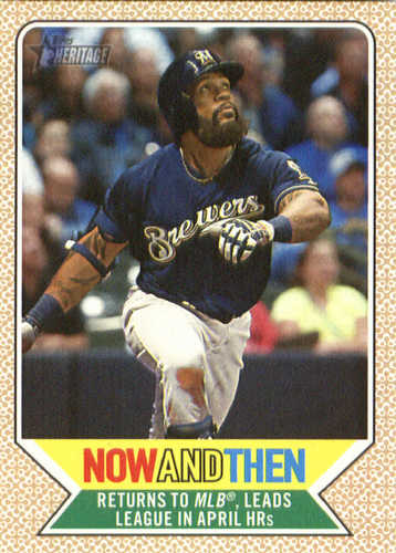 Photo of 2017 Topps Heritage Now and Then #NT12 Eric Thames