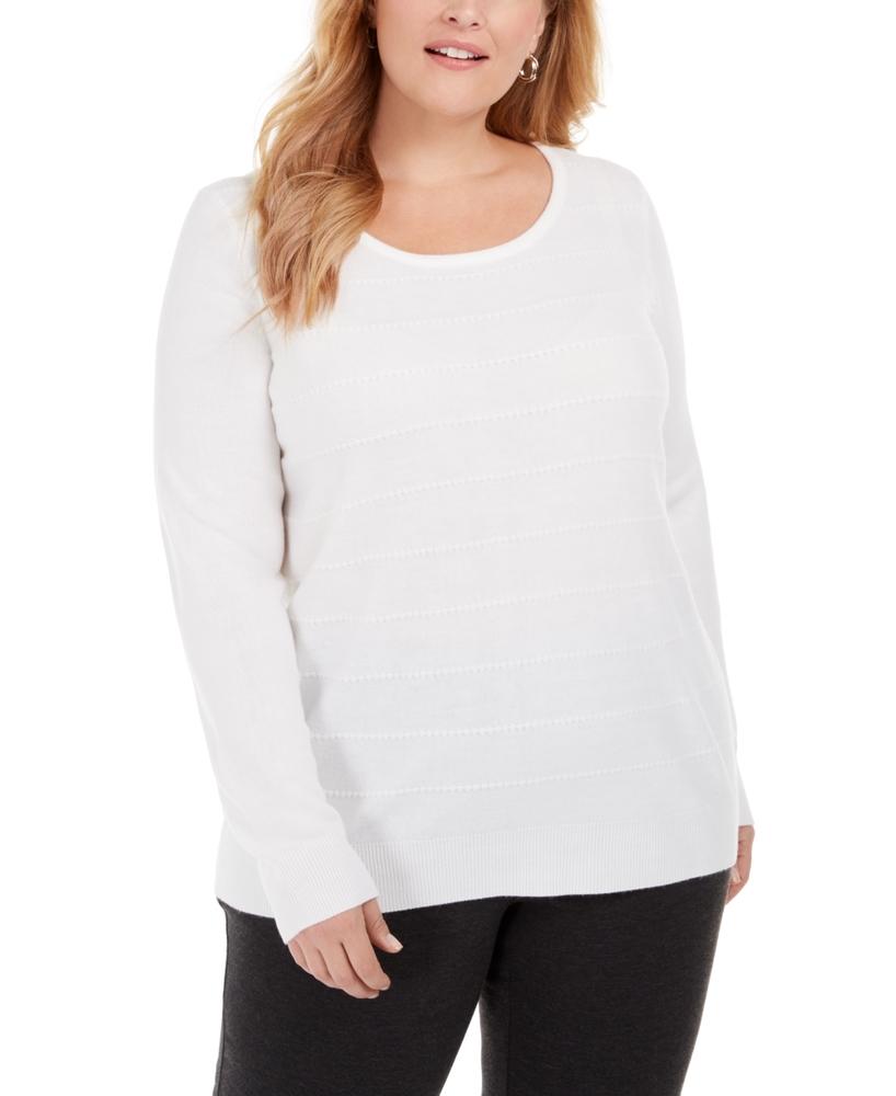 Photo of Karen Scott Ottoman Pullover Basic Sweater