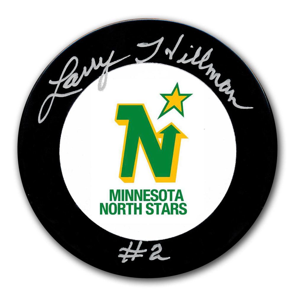Larry Hillman Minnesota North Stars Autographed Puck
