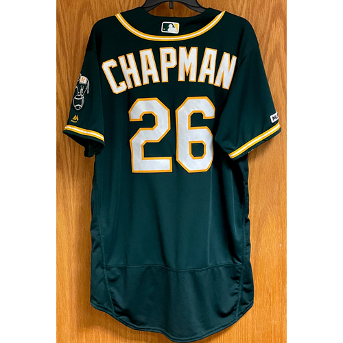 Photo of Game-Used Jersey - Matt Chapman (HR 26 & 27) 8/14/19