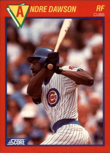 Photo of 1989 Score Hottest 100 Stars #80 Andre Dawson