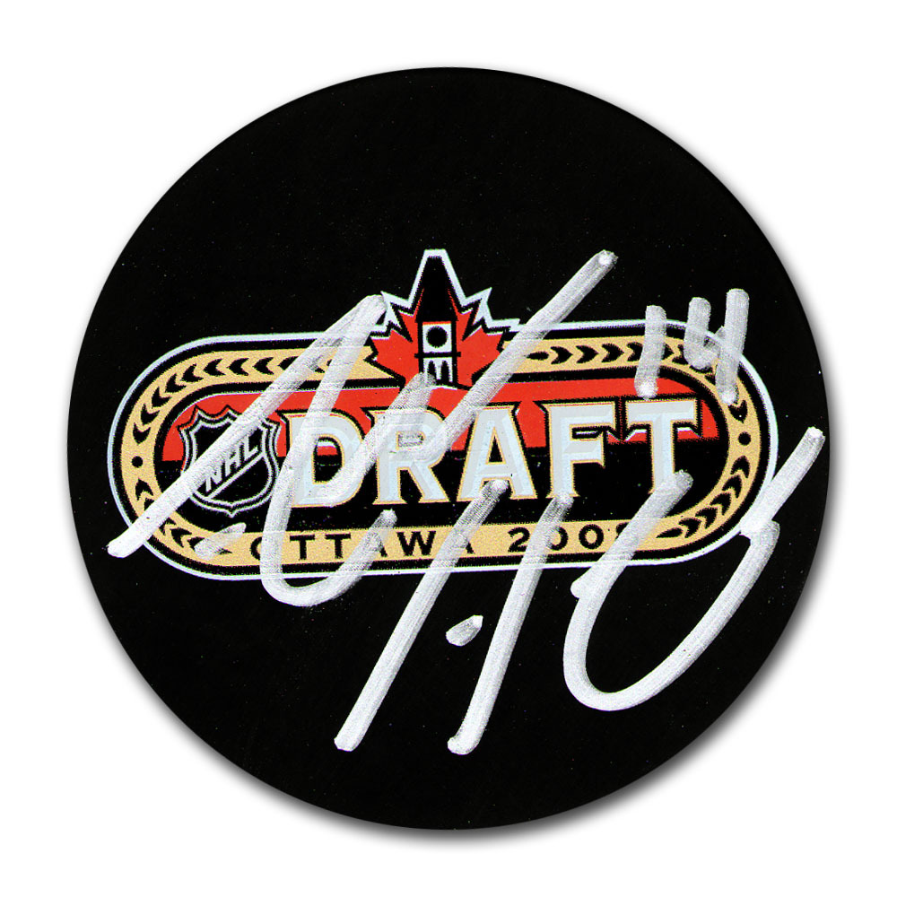 Adam Henrique (New Jersey Devils) Autographed 2008 NHL Entry Draft Puck w/'82nd Overall' Notation