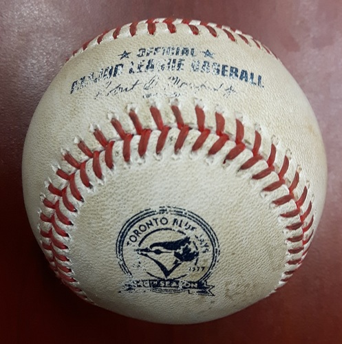 Authenticated Game Used Baseball - Michael Saunders Home Run vs Ian Kennedy