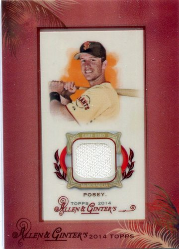 Photo of 2014 Topps Allen and Ginter Mini Framed Relics  Buster Posey