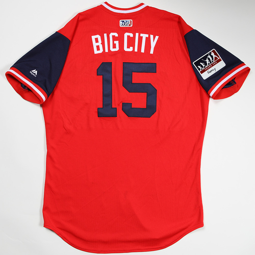 "Photo of Matt ""Big City"" Adams St. Louis Cardinals Game-Used 2018 Players' Weekend Jersey"