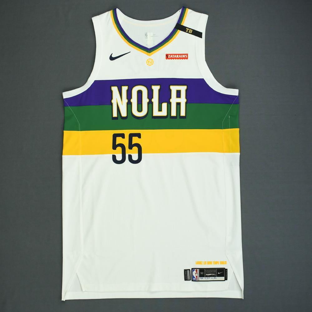 E'Twaun Moore - New Orleans Pelicans - Game-Worn City Edition Jersey - 2018-19 Season