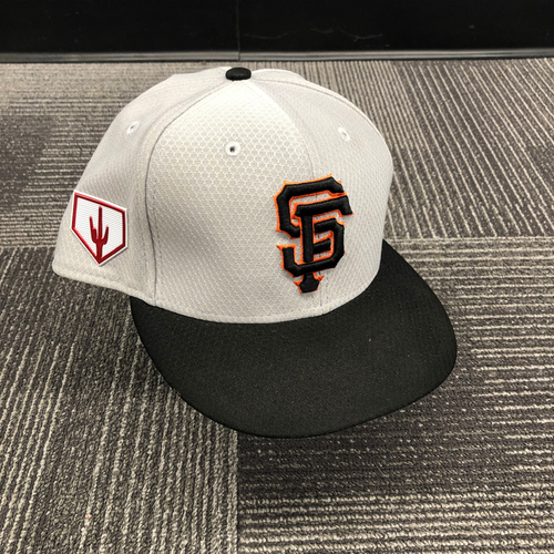2019 Team Issued Gray Spring Training Cap - #15 Bruce Bochy - Size 8 1/8
