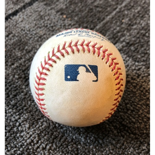 Photo of 2019 Game Used Baseball - San Francisco Giants vs. Los Angeles Dodgers - 5/1/19 - B-1: Hyun-Jin Ryu to Steven Duggar - Single to Center Field