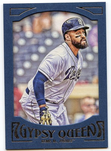 Photo of 2016 Topps Gypsy Queen Framed Blue #54 Matt Kemp