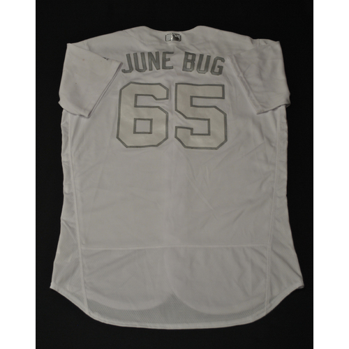 "Photo of Jakob ""JUNE BUG"" Junis Kansas City Royals Game-Used 2019 Players' Weekend Jersey"