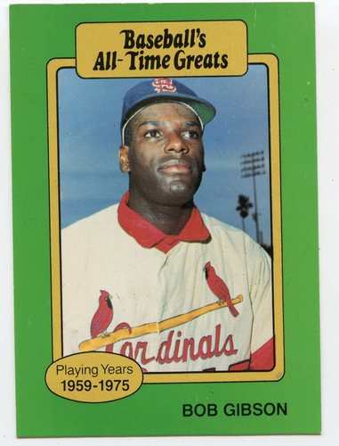 Photo of 1987 Hygrade All-Time Greats #40 Bob Gibson