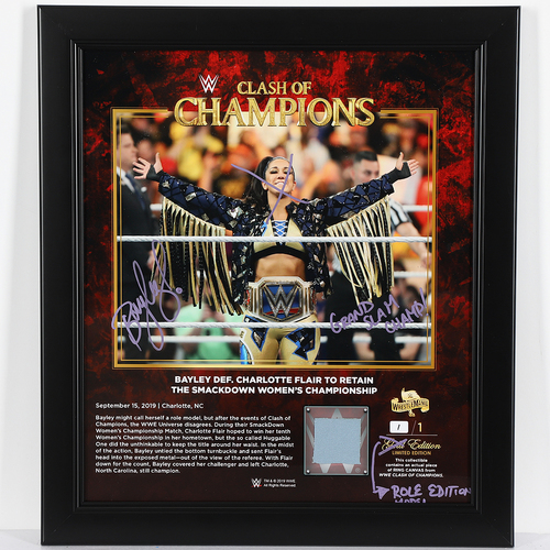 Bayley SIGNED Custom ROLE MODEL Edition Plaque (1 of 1)