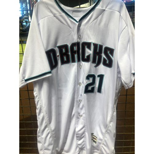 Photo of Zack Greinke 2017 Team-Issued Road Alternate Jersey - Size 50