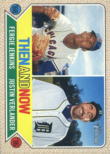 Photo of 2017 Topps Heritage Then and Now #TAN15 Justin Verlander/Fergie Jenkins