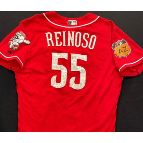 Photo of REINOSO -- Authentic Reds Jersey -- $1 Jersey Auction -- $5 Shipping -- Size 44 (Not MLB Authenticated)