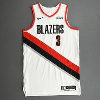 CJ McCollum - Portland Trail Blazers - Kia NBA Tip-Off 2020 - Game-Worn Association Edition Jersey - Scored Game-High 23 Points