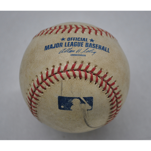 Photo of Game-Used Baseball - WSH at ATL - 4/10/09 - Atlanta Braves Opening Day