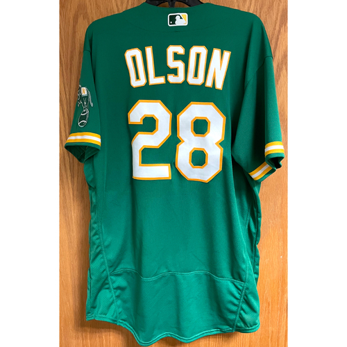 Photo of Game-Used Jersey - Matt Olson; HR #1 & 2 (4/21/21 vs. Minnesota Twins)