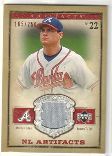 Photo of 2006 Artifacts AL/NL Artifacts Red #MGN Marcus Giles Jsy/250