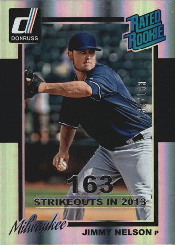 Photo of 2014 Donruss Stat Line Season #247 Jimmy Nelson/163