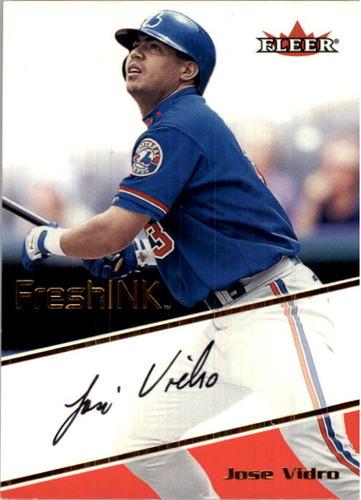 Photo of 2000 Fleer Focus Fresh Ink #46 Jose Vidro