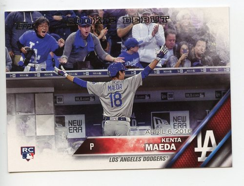 Photo of 2016 Topps Update #US285 Kenta Maeda -- Dodgers post-season